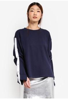 Contrast Sleeve Panel Sweatshirt