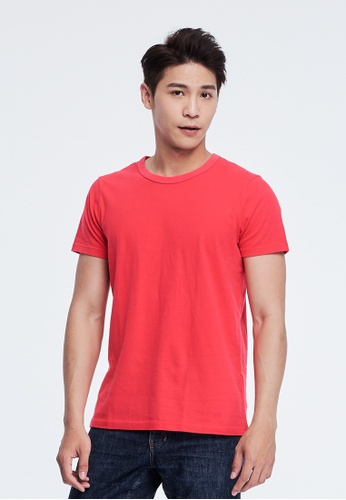 so that's me 紅色 簡單素面蜜桃棉圓領短袖男T 6A995AA99D1F9FGS_1