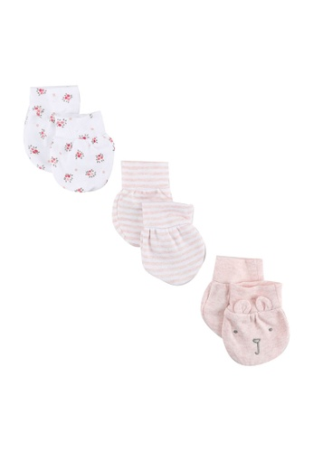 GAP pink Baby First Favorite Print Mittens (3-Pack) 7F963KC9EDB6A0GS_1