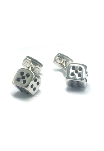 Splice Cufflinks silver Silver Dice Cufflinks 2  SP744AC67EMISG_1