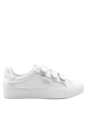 Twenty Eight Shoes 白色 三重魔術貼波鞋8033 A97EASHA7F3E2EGS_1