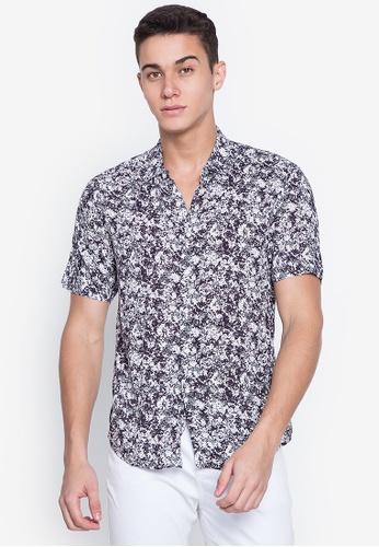 Mick + Marty grey Printed Short Sleeve Shirt 3B212AA9239FD7GS_1