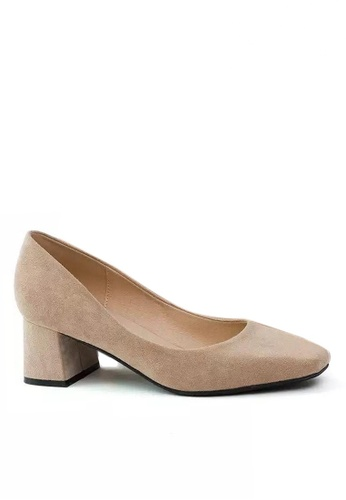 Twenty Eight Shoes 5CM方頭絨面高踭鞋1270-1 511E0SH59F0929GS_1
