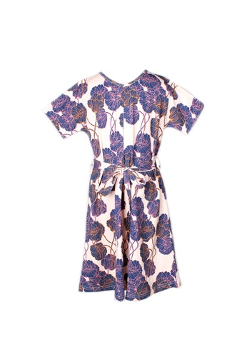Mini Moley pink Neon Peony Print Flare Dress 2801CKABB4589CGS_1