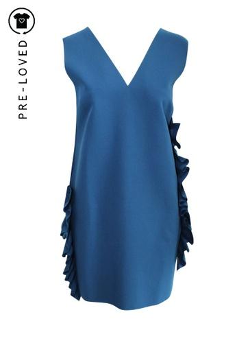 Msgm blue Pre-Loved msgm Sleveless Ruffled Dress B46E2AA7ECDA35GS_1