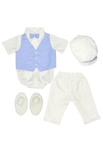 Babycuddleph multi Polo Onesie and Pants Baptism Blue Set DE6B6KA490B15AGS_1