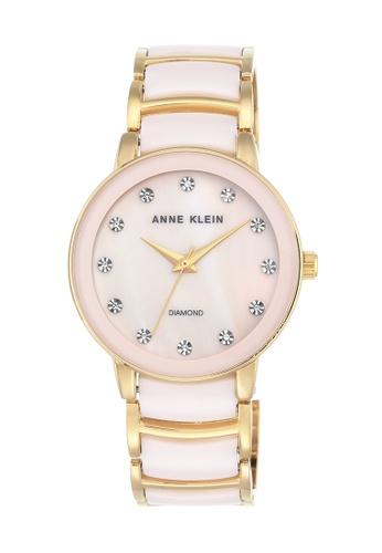 Anne Klein pink and gold Anne Klein Ladies - Diamond Accented Watch - AK-2672LPGB AN844AC0RGSYMY_1