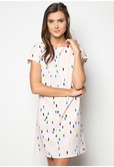 Teardrop Printed Shift Dress