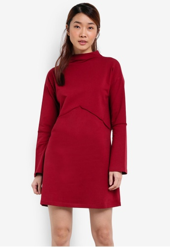 Something Borrowed red Raw Edge Sweater Dress 6D744ZZC3C4588GS_1