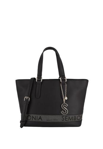 SEMBONIA black Short Handle Tote Bag EC6EBACDE1ED37GS_1