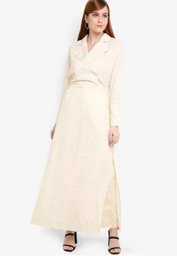 Zalia beige Long Line Tunic With Slits 325A4AA006301FGS_1