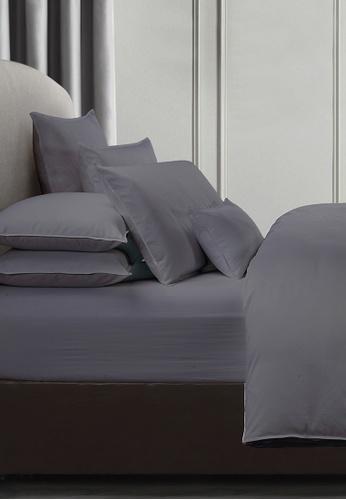 Grand Atelier grey Platinum 1000TC 100% Egyptian Cotton Sateen Bolstercase 1pcs (Suite Essentials Collection) 6DFDBHL7BFF34CGS_1