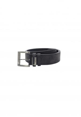 POLOVENZI black Polovenzi Men Leather Belt 5215EAC0059278GS_1