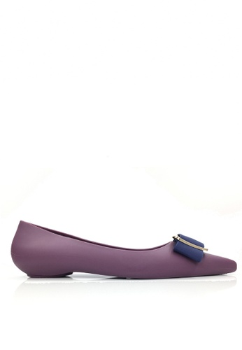 Twenty Eight Shoes purple Metallic Ornament Waterproof Jelly Flats VY8301 TW446SH77ZISHK_1