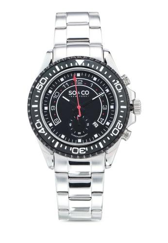 SO&CO silver Hudson 5015.3 Watch CEFF3AC6447A41GS_1