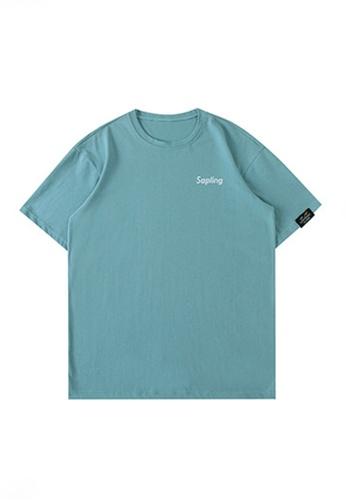 Twenty Eight Shoes green VANSA Unisex Color block Letters Short-sleeved T-shirt VCU-T1567 E6902AA8967901GS_1