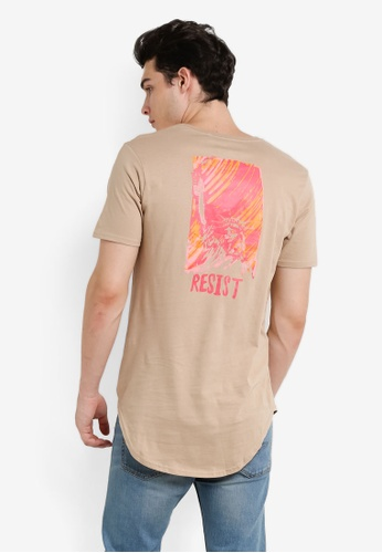 Factorie brown Curved Tail Tee FA880AA0RD4LMY_1