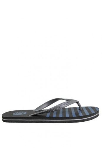 BENCH black Printed Rubber Slippers BE550SH0JXPSPH_1