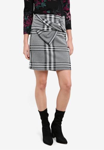 Dorothy Perkins black Checkered Bow Mini Skirt DO816AA0RP4IMY_1