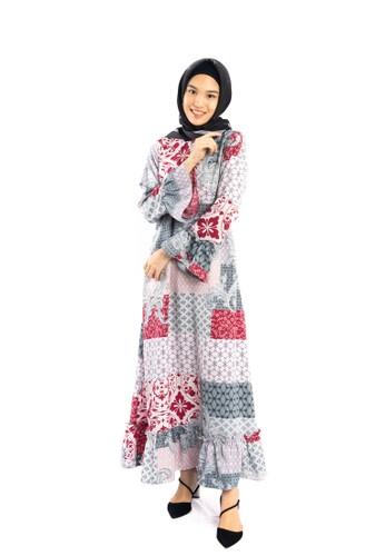 Heart n Feel Muslim red Maxmara Muslim Dress DA5A7AAE4E9361GS_1