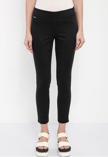 Dkny black DKNY Women Cotton Side Zip Pants 8778FAA74F0D8FGS_1