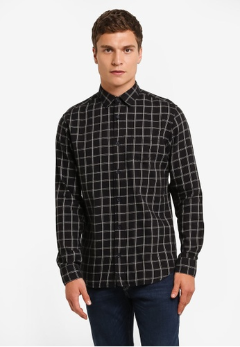 Selected Homme black Long Sleeve Checkered Shirt SE364AA0RMCXMY_1
