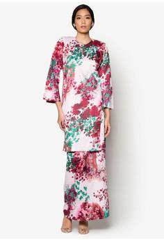 Baju Kurung Pahang Japanese Cotton Olive