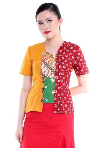 DhieVine Batik red and orange and multi Hiranya Truntum Honey Lemon Kebaya Kutubaru BAD3AAA9B36BA9GS_1