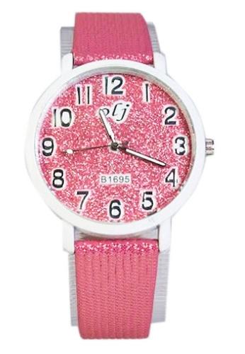 World of Watches pink OLJ Glitters Women's Leather Strap Watch B1695 WO566AC88UGPPH_1