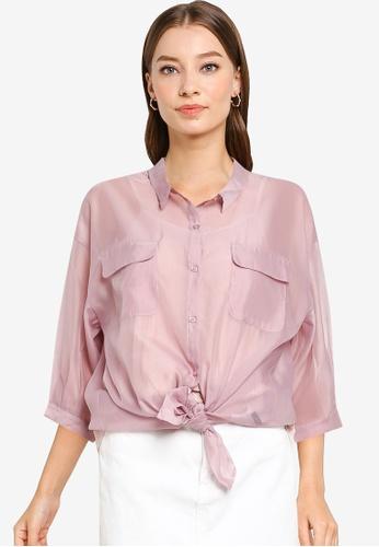 Heather pink Woven Shirt 2CEF0AA30465ECGS_1