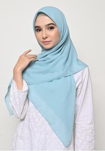 My Daily Hijab blue Hijab Segi 4 Jahit Tepi Voal Gucci Cerulian AE5C7AAF3CDF63GS_1