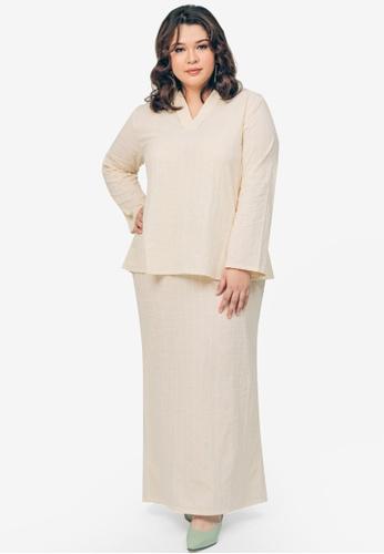 UMMA brown Hana Top & Skirt Set ACCA8AA0A70C75GS_1