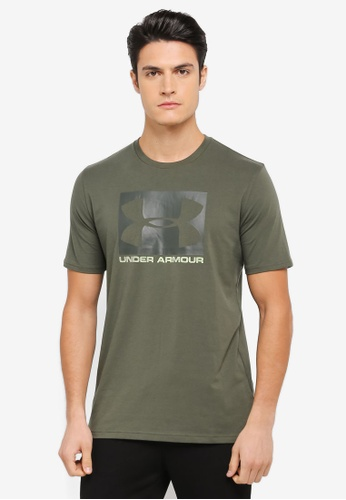 Under Armour green UA Boxed Sportstyle T-Shirt UN337AA0SU55MY_1