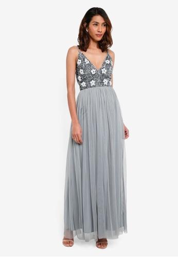 Lace & Beads grey Irina Maxi 28A17AA610AFA9GS_1