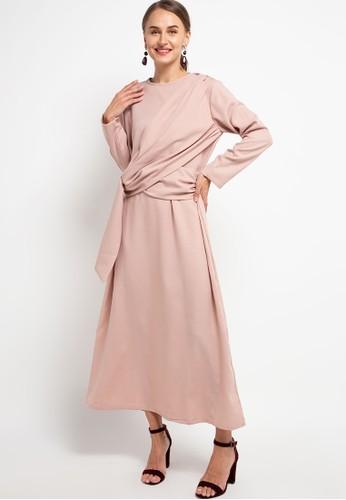 HAZELNUT beige Padma Dress 68A61AA97709BFGS_1