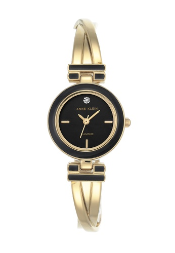 Anne Klein black and gold Anne Klein Ladies - Diamond Accented Watch - AK-2622BKGB AN844AC0RGSUMY_1