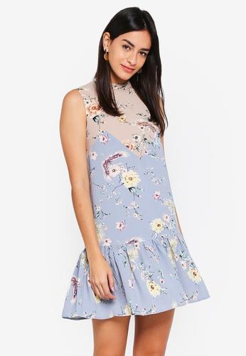 MDSCollections blue Freya Ruffled-Hem Dress In Blue Bird 58EC4AA4CF3849GS_1