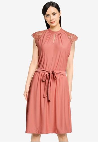 Vero Moda pink VMMILLA SL LACE SHORT DRESS GA COLOR 20A58AAEDF1FCFGS_1