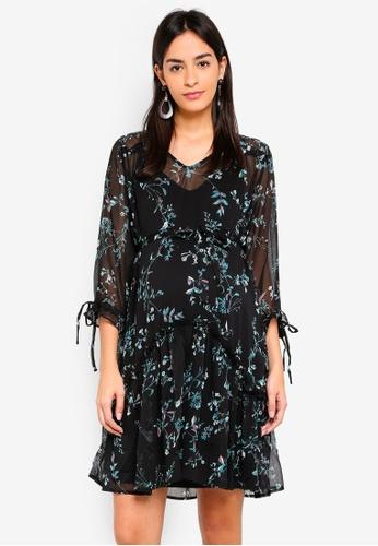 Mama.licious black Maternity Sami 3/4 Woven Dress 75A50AAF7457F1GS_1
