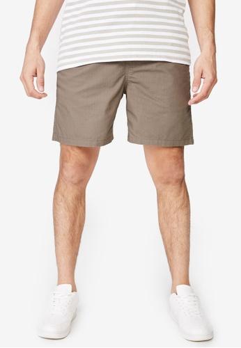 Cotton On 米褐色 休閒抽繩短褲 37E4FAA5797AF1GS_1