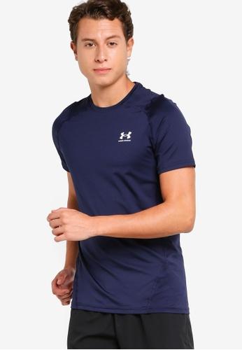 Under Armour 海軍藍色 HeatGear Armour Fitted Short Sleeve Tee 9EB12AA002E787GS_1