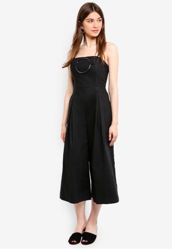 Something Borrowed black Ring Detail Culotte Jumpsuit 15497AA76C86BCGS_1