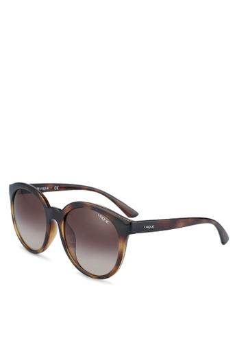 Vogue brown Vogue Sunglasses 7435FGLD5AF7F7GS_1