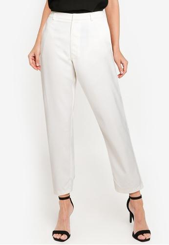 ZALORA WORK white Tailored Pants 1CE9AAA26B6607GS_1