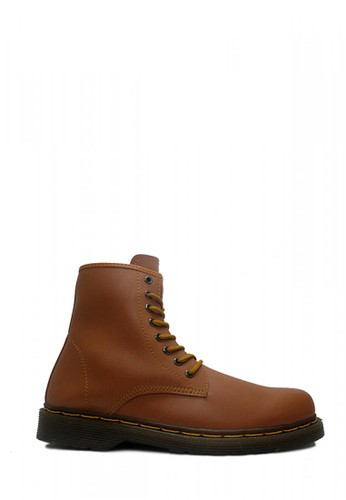 D-Island brown D-Island Shoes Boots Classic Airwair Mens High Leather Soft Brown DI594SH49EXYID_1