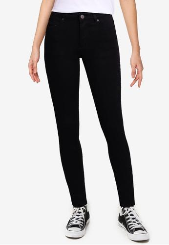 Electro Denim Lab black Stardust Mid Rise Skinny Jeans D5307AAB831F5EGS_1