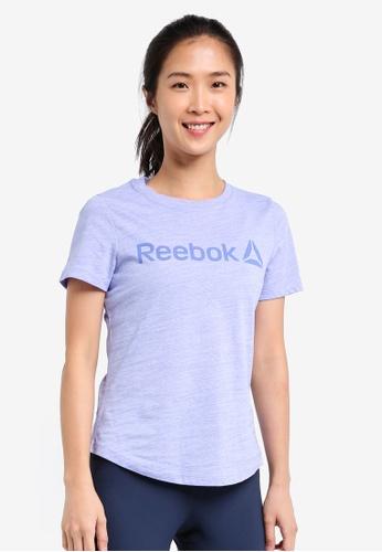 Reebok purple EL Logo Marble Tee RE691AA0SJSHMY_1