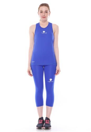 Jual Tiento Tiento Women Basalayer Singlet Blue Olahraga Dan Celana Legging Sport Sebetis Wanita 3 4 Pants Blue 1 Stel Original Zalora Indonesia