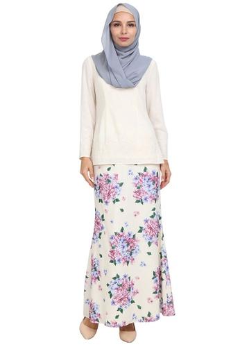 Vesta Blouse & Skirt Set from POPLOOK in White