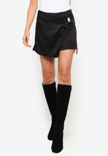 MISSGUIDED black Seatbelt Skort F9EE2AAE7BE880GS_1